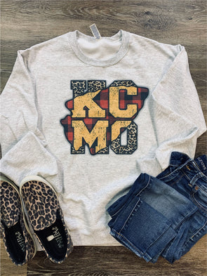 Arrow Head Leopard KC MO Sweatshirt