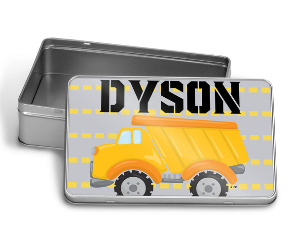 Pick Up Truck Puzzle WITH MATCHING TIN BOX