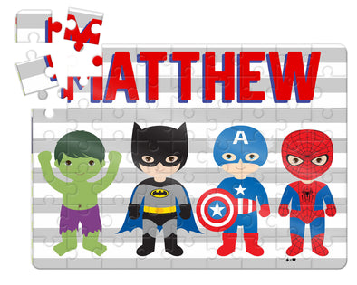 Super Heros Custom Kids Puzzle