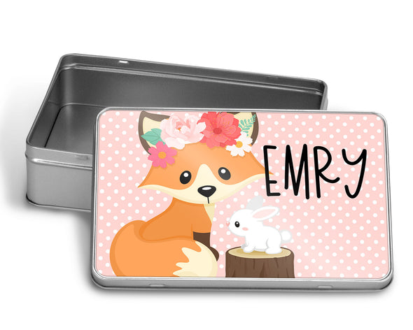 Foxy Florals Puzzle WITH MATCHING TIN BOX
