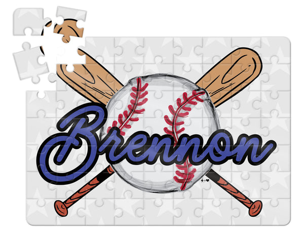Baseball Kids Custom Puzzle