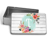 Monogram Floral Rustic Puzzle WITH MATCHING TIN