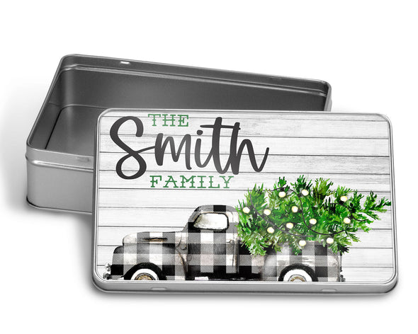 Plaid Truck Custom Puzzle WITH MATCHING TIN BOX