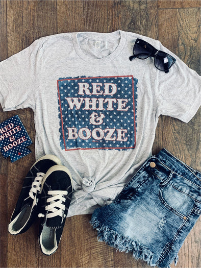Red White and Booze Tee