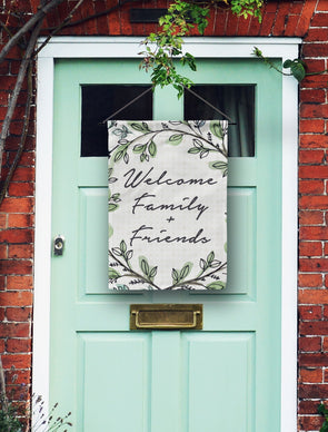 Welcome Family and Friends Door Flag