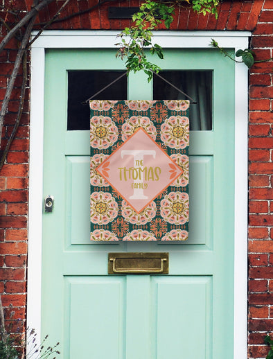 Bohemian Monogram Door Flag