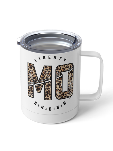 15oz Steel Tumbler PRE-ORDER (Sporty State Leopard)