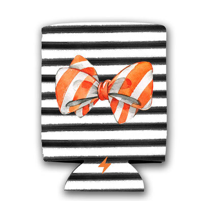 Stripe Bow Koozie