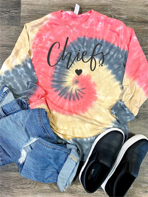 Chiefs Tie Dye Long Sleeve Tee