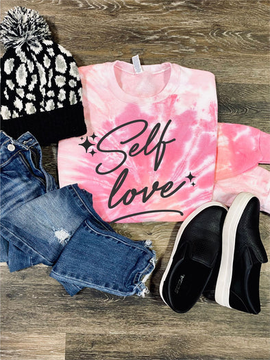 Self Love Valentine Cotton Candy Tie Dye