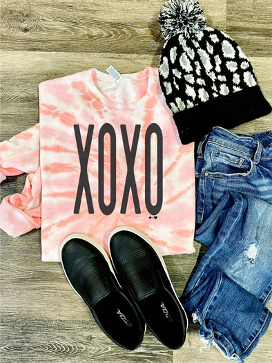 XOXO Valentine Strawberry Shortcake Tie Dye