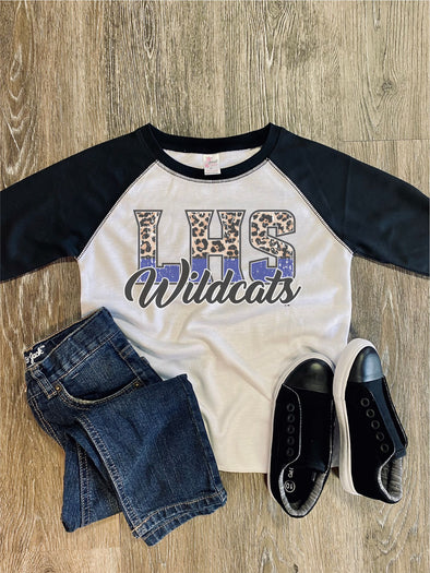 "Color Block ""Team Name"" Game Day Toddler/Youth Raglan"