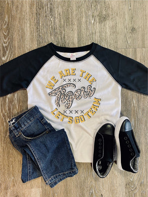 "We are the ""Team Name"" Game Day Toddler/Youth Raglan"