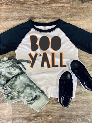 Boo Y'all Toddler Youth Halloween Tee