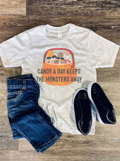 Candy a Day Toddler Youth Halloween Tee