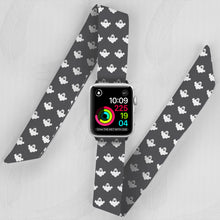 Load image into Gallery viewer, Halloween Hand Made Apple Watch Scarf Band With Gosts
