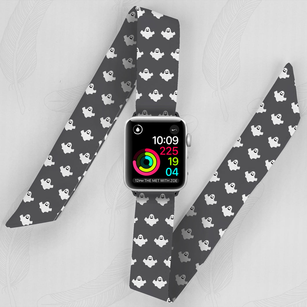 Halloween Hand Made Apple Watch Scarf Band With Gosts