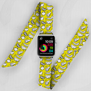 Yellow Fruit Hand Made Apple Watch Scarf Band