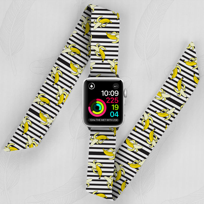Going Bananas Hand Made Apple Watch Scarf Band