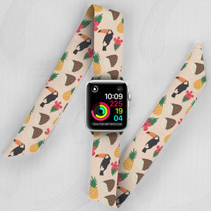 Toucans Hand Made Apple Watch Scarf Band