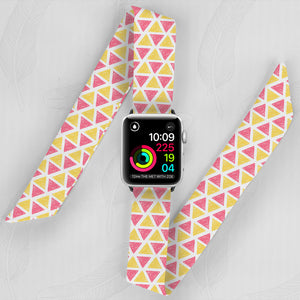 Aztec Triangles Hand Made Apple Watch Scarf Band