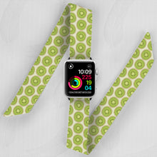 Load image into Gallery viewer, apple watch band with green kiwi pattern