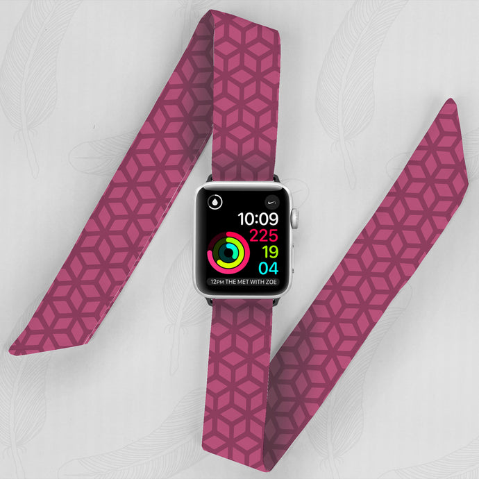 pink Marrakesh pattern apple watch band