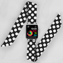 Load image into Gallery viewer, Polka Dot Hand Made Apple Watch Scarf Band
