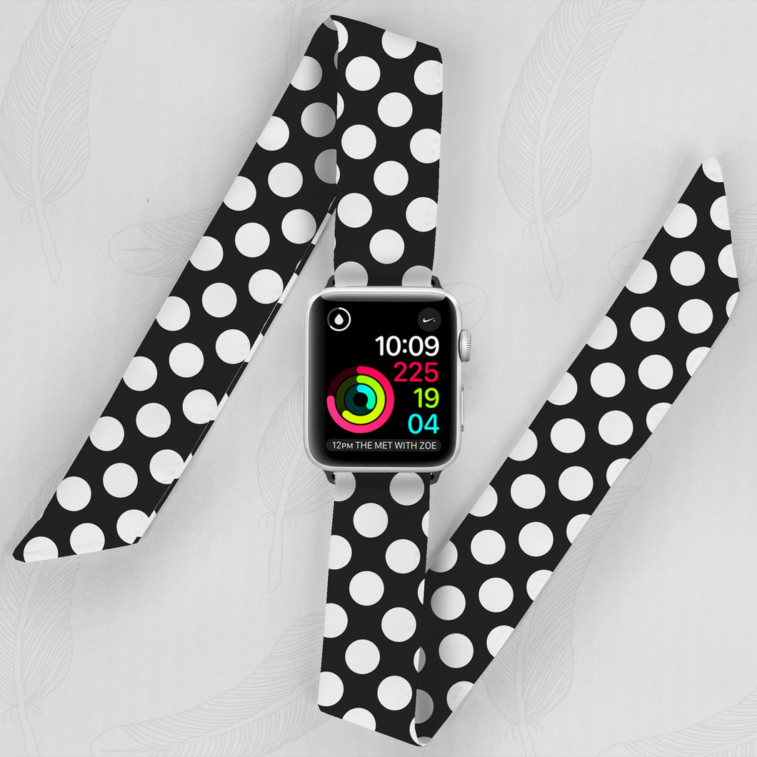 Polka Dot Hand Made Apple Watch Scarf Band