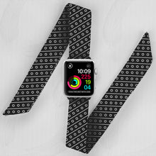 Load image into Gallery viewer, Striped Dots Pattern Hand Made Apple Watch Scarf Band