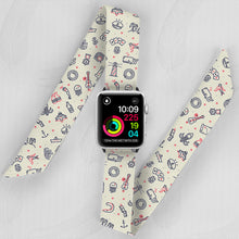 Load image into Gallery viewer, Zombie Sailor Hand Made Apple Watch Scarf Band