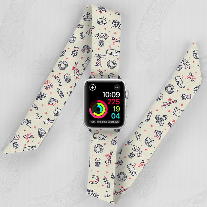 Zombie Sailor Hand Made Apple Watch Scarf Band