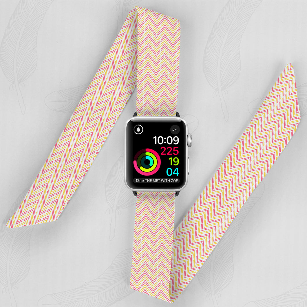 Aztec Arrows 2 Hand Made Apple Watch Scarf Band