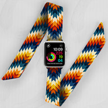Load image into Gallery viewer, Aztec Snake Hand Made Apple Watch Scarf Band