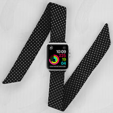 Load image into Gallery viewer, Dotted Pattern Hand Made Apple Watch Scarf Band