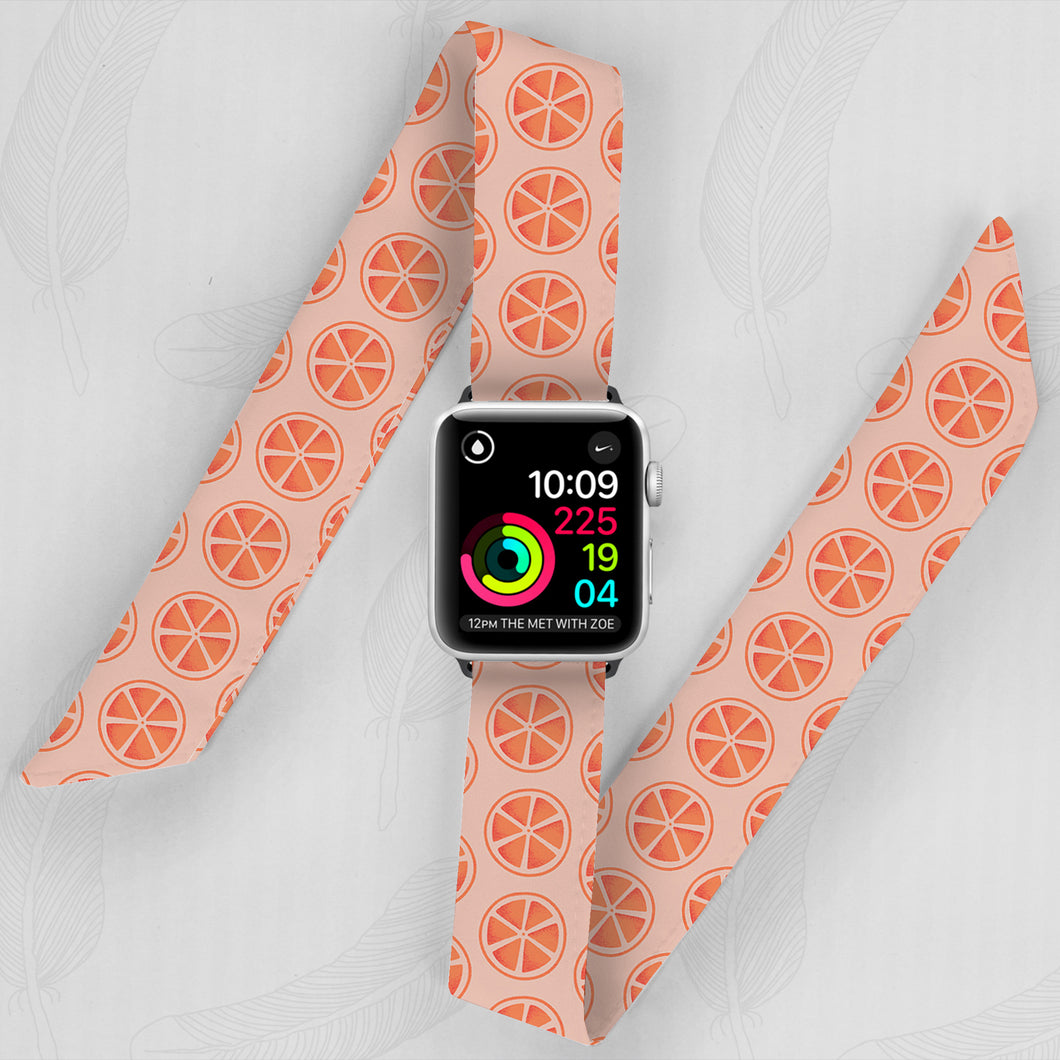 orange pattern orange color apple watch band