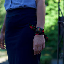 Load image into Gallery viewer, Eastern European Folk Pattern Hand Made Apple Watch Scarf Band