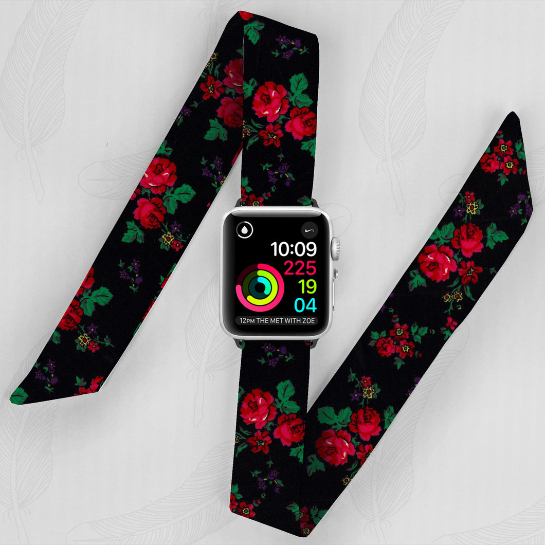 Eastern European Folk Pattern Hand Made Apple Watch Scarf Band
