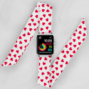 I ❤️ You Pattern Hand Made Apple Watch Scarf Band
