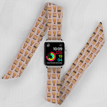 Load image into Gallery viewer, Junk Food Hand Made Apple Watch Scarf Band