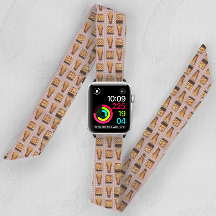 Junk Food Hand Made Apple Watch Scarf Band