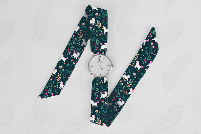 Little Pony Classical Woman's Analog Scarf Watch