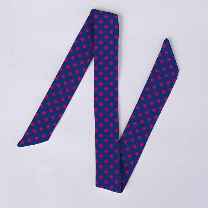 Additional Navy & Pink Polka Dot Watch Band