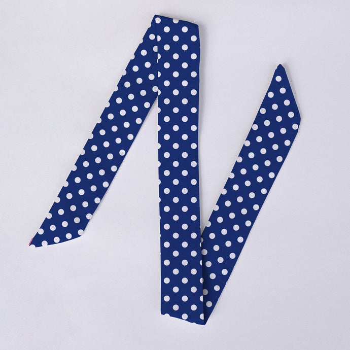 Additional Navy & White Polka Dot Watch Band