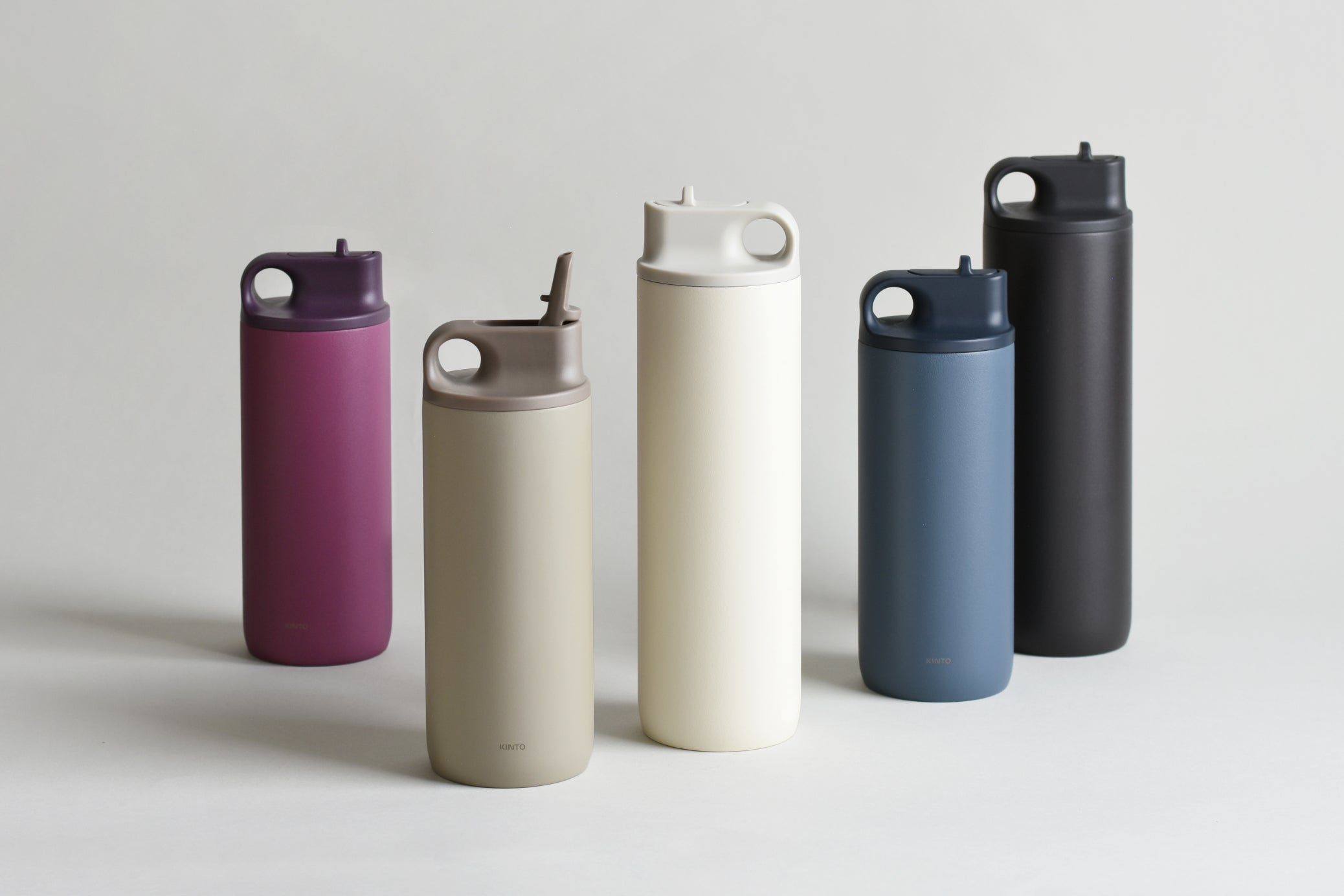 ACTIVE tumbler collection in white, black, sand beige, ash pink, blue gray