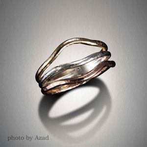 1073CO - Wrap Ring - Mixed Metal