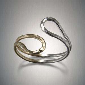 1077CO - Hug Ring - Mixed Metal