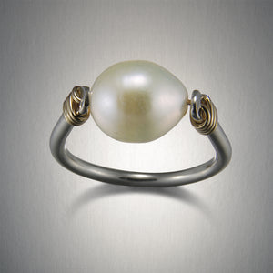 1104CO - Pearl Wrap Ring - Mixed Metal