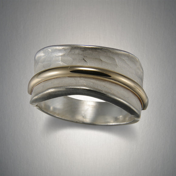 1120CO - Sandblasted Saddle Ring - Mixed Metal
