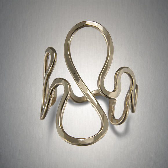 1201A - Squiggle Ring - Gold Fill